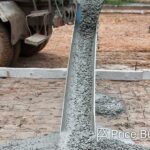 truck pouring foundation